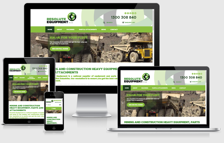 construction and transport web design