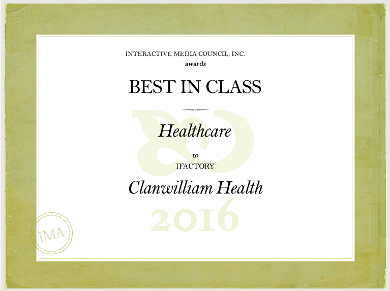 IMA Best in Class Award Clanwilliam Health